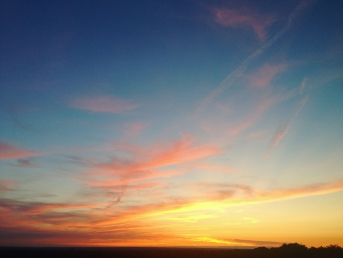 Beautiful sunset looking west from Rivington